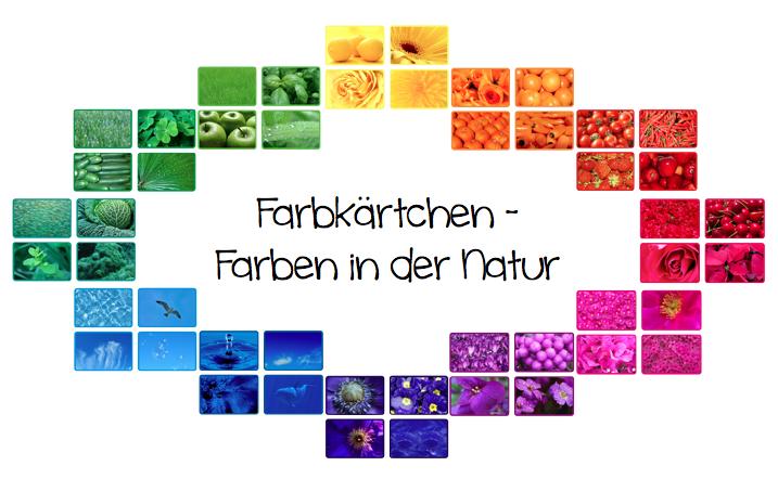Farben in der Natur – Legekärtchen