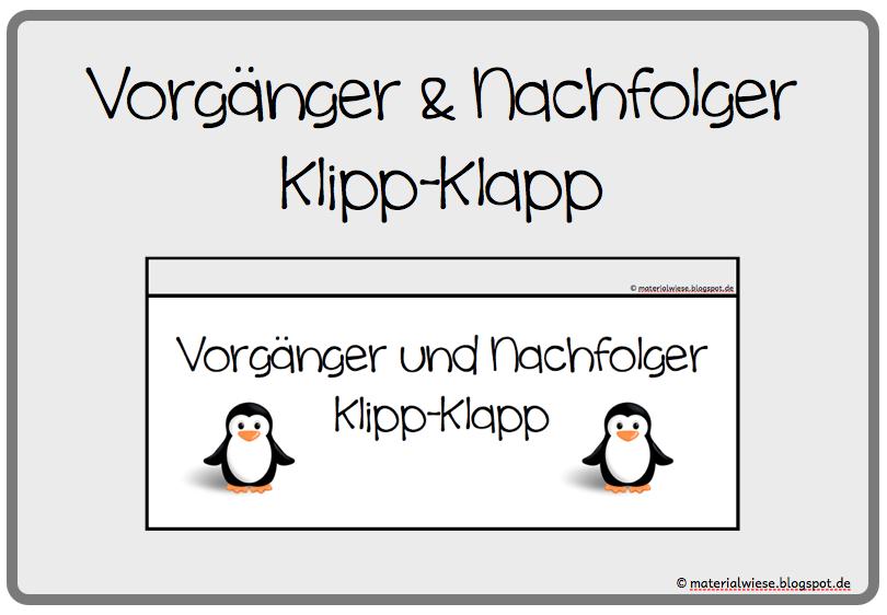 """Vorgänger und Nachfolger """"Klipp-Klapp"""""""