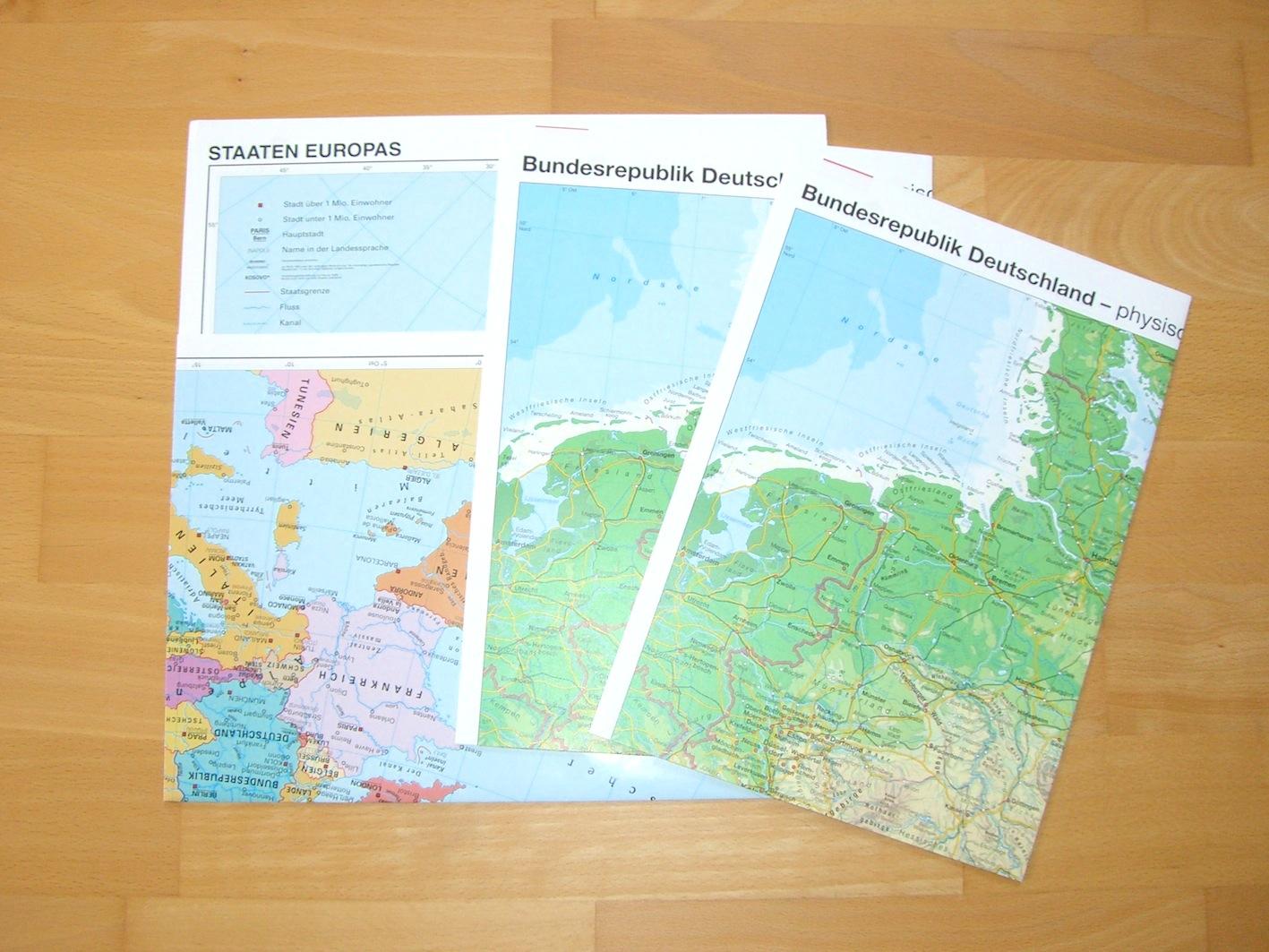 KOSTENLOS: Deutschland- / Europa- und Weltkarte