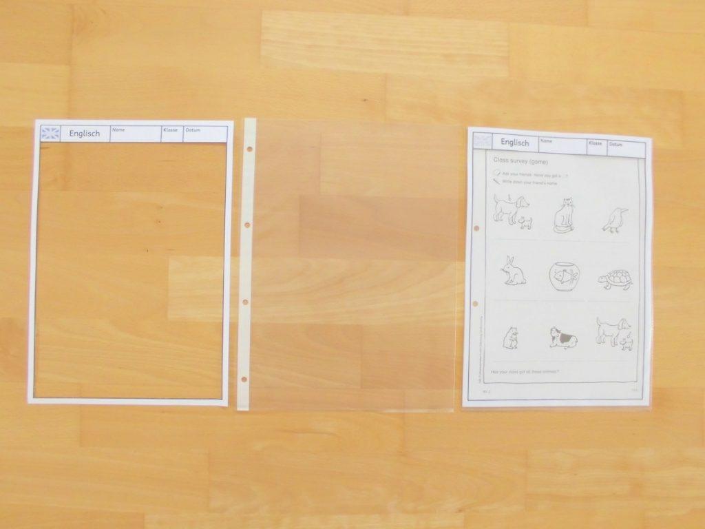 Universalrahmen für Arbeitsblätter