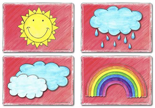 Bildkarten zum Thema Wetter