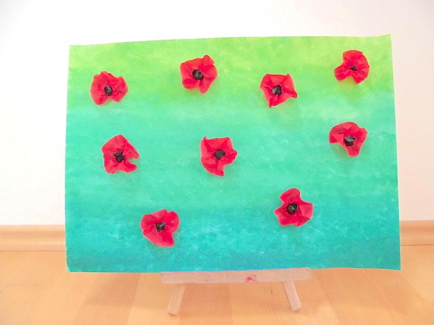Kunst: Mohnblumen auf der Wiese