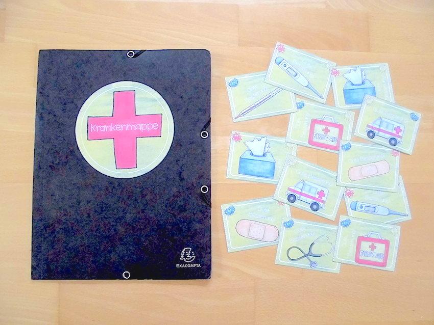 Krankenmappe für kranke Kinder