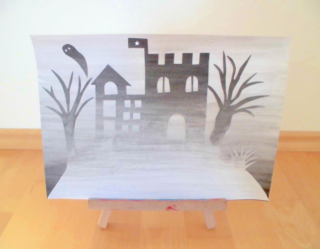 Kunst Fantasieschloss Im Nebel