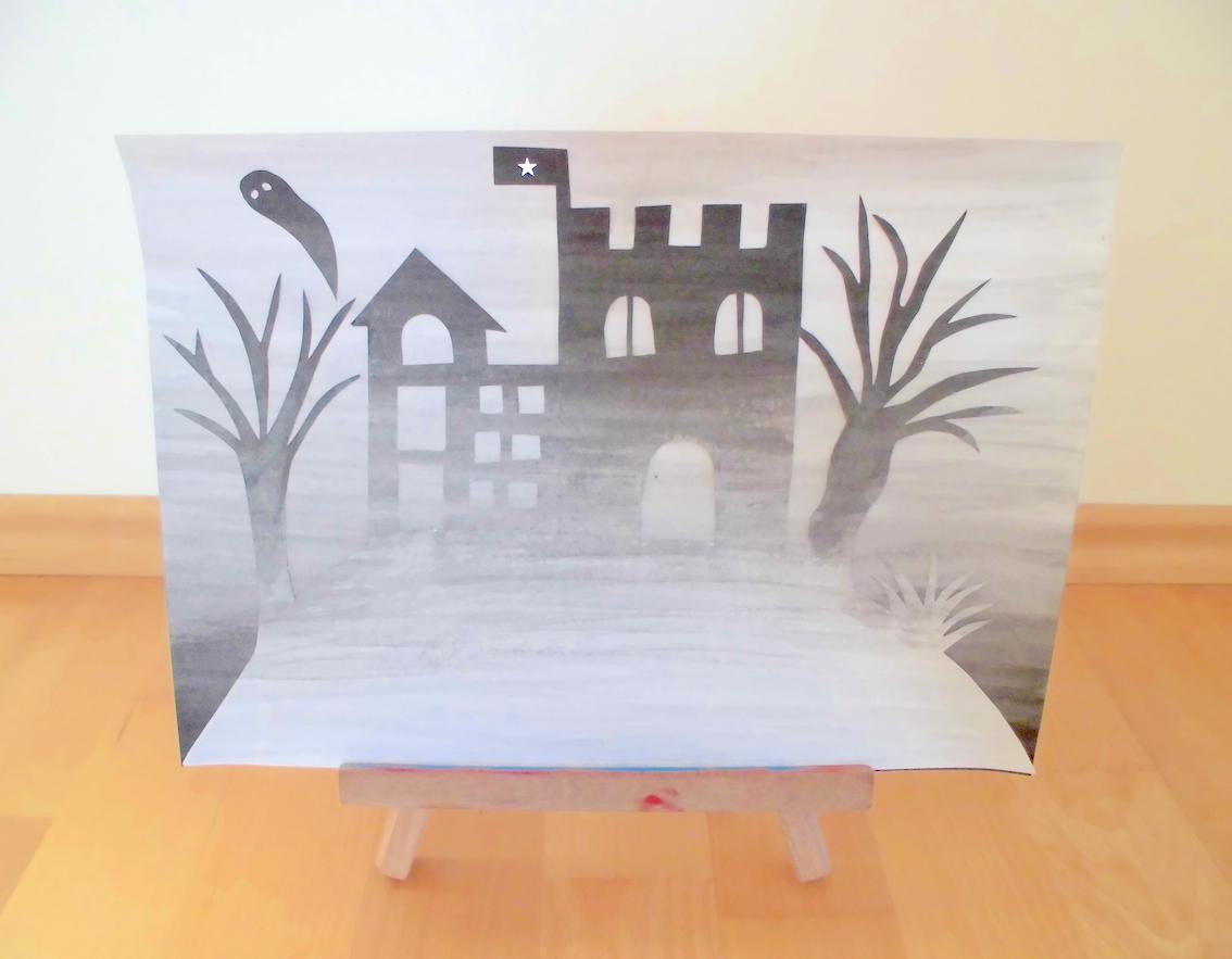 Kunst: Fantasieschloss im Nebel