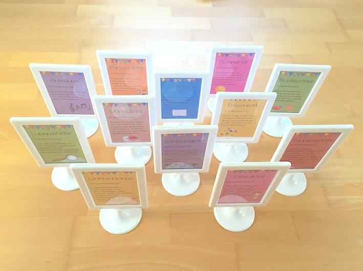 Lernwörterübungen: Lupenwörter und Aufnahme