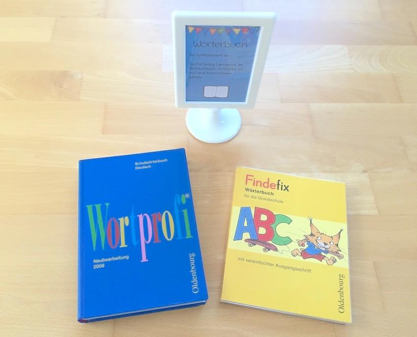 Lernwörterübungen: Wörterbuch und Wortschlange