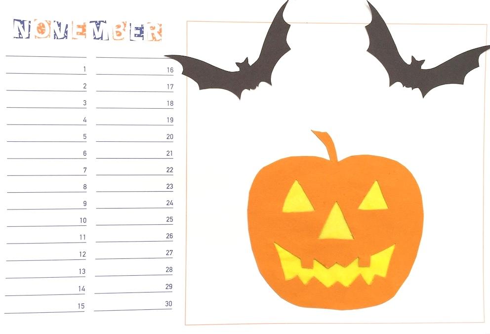 Werken: Bastelkalender November