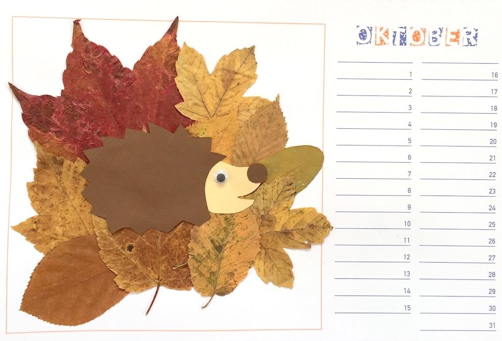 Werken: Bastelkalender (September, Oktober)