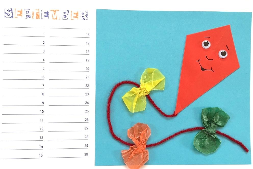 Bastelkalender Ideen.Werken Bastelkalender September Oktober