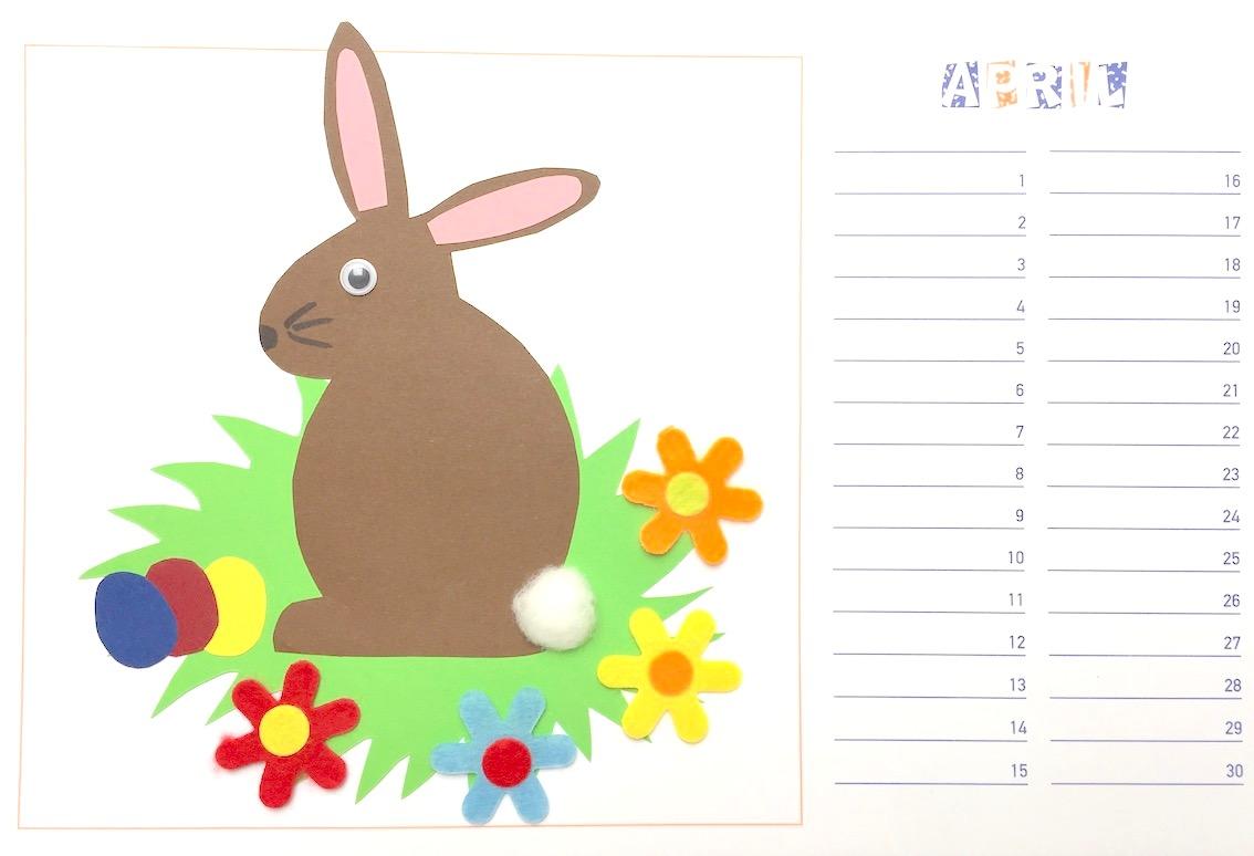 Werken: Bastelkalender April