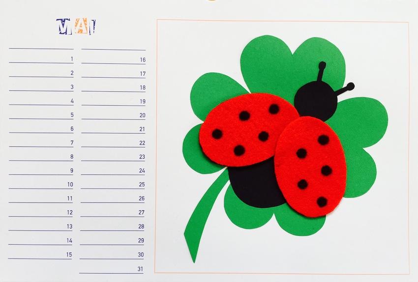 Werken: Bastelkalender Mai