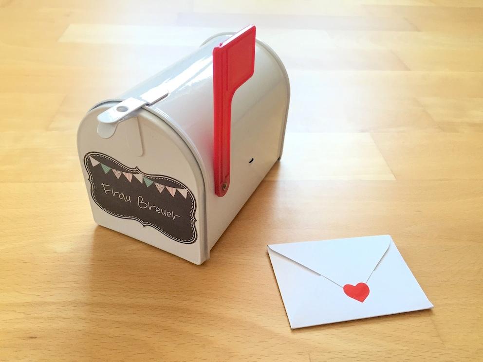 Kleine Mailbox für Lehrerpost