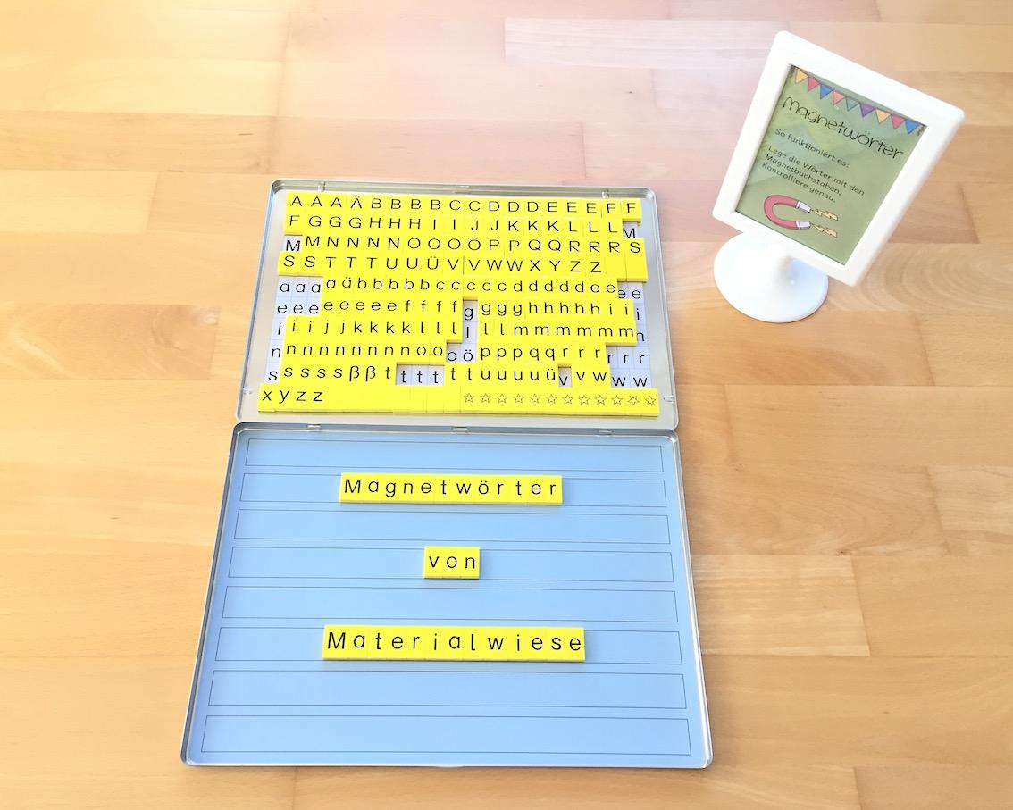 Neue Lernwörterübung: Magnetwörter