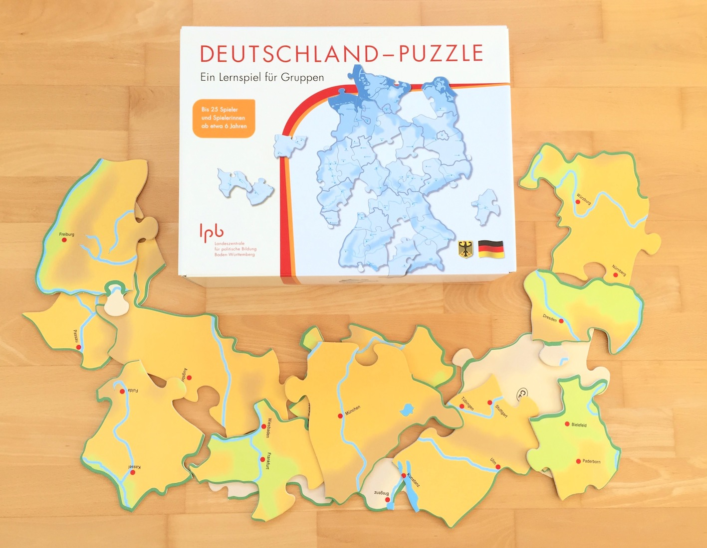Deutschland und Europa-Puzzle