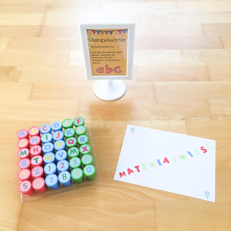 Neue Lernwörterübung: Stempelwörter
