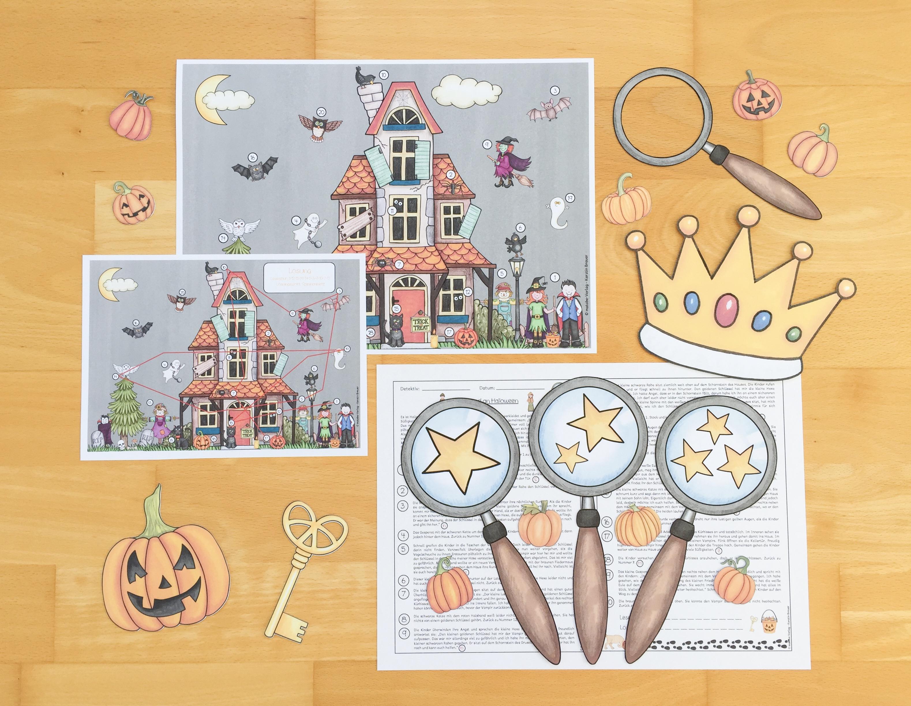 Lesespur für Halloween