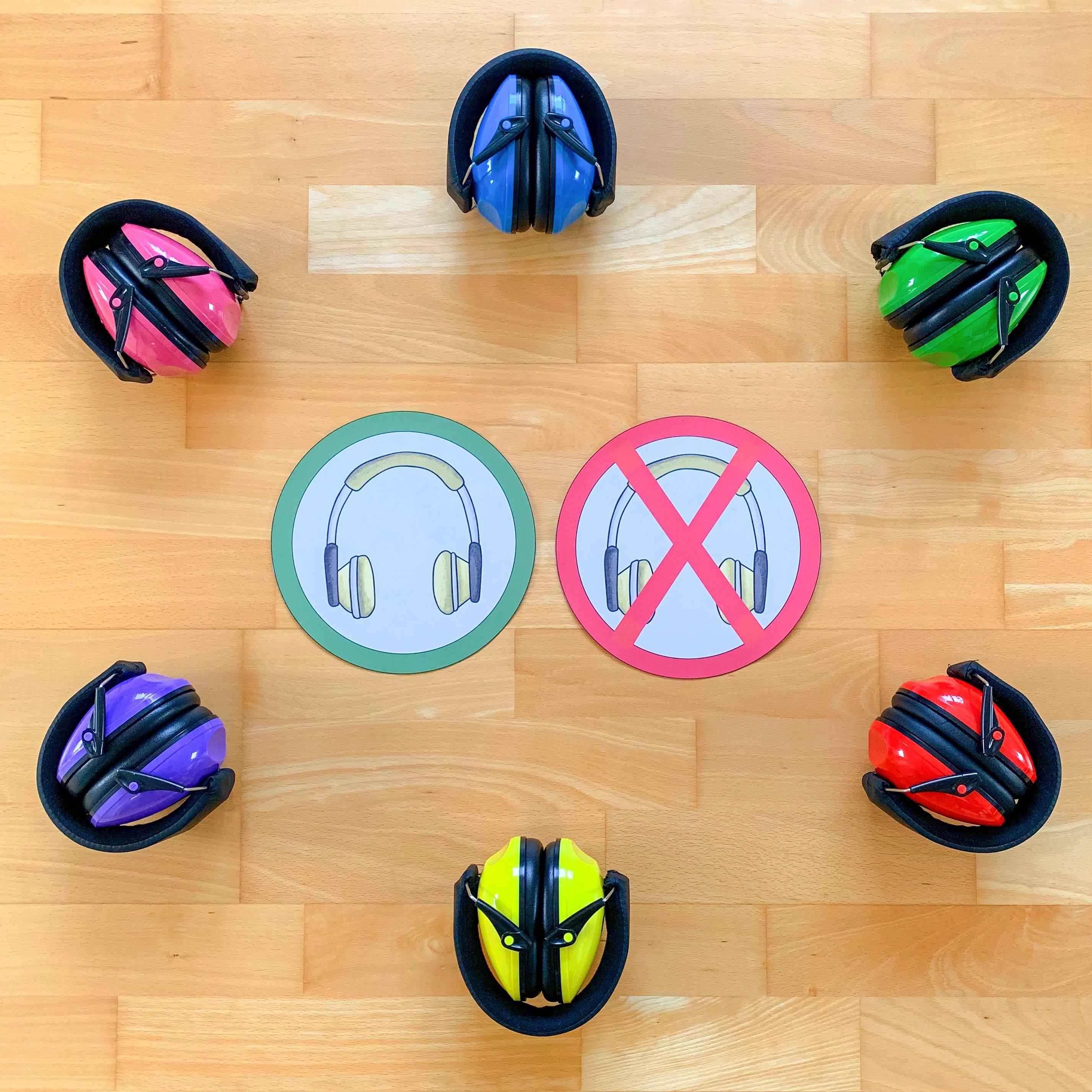 Lärmschutzkopfhörer in der Grundschule