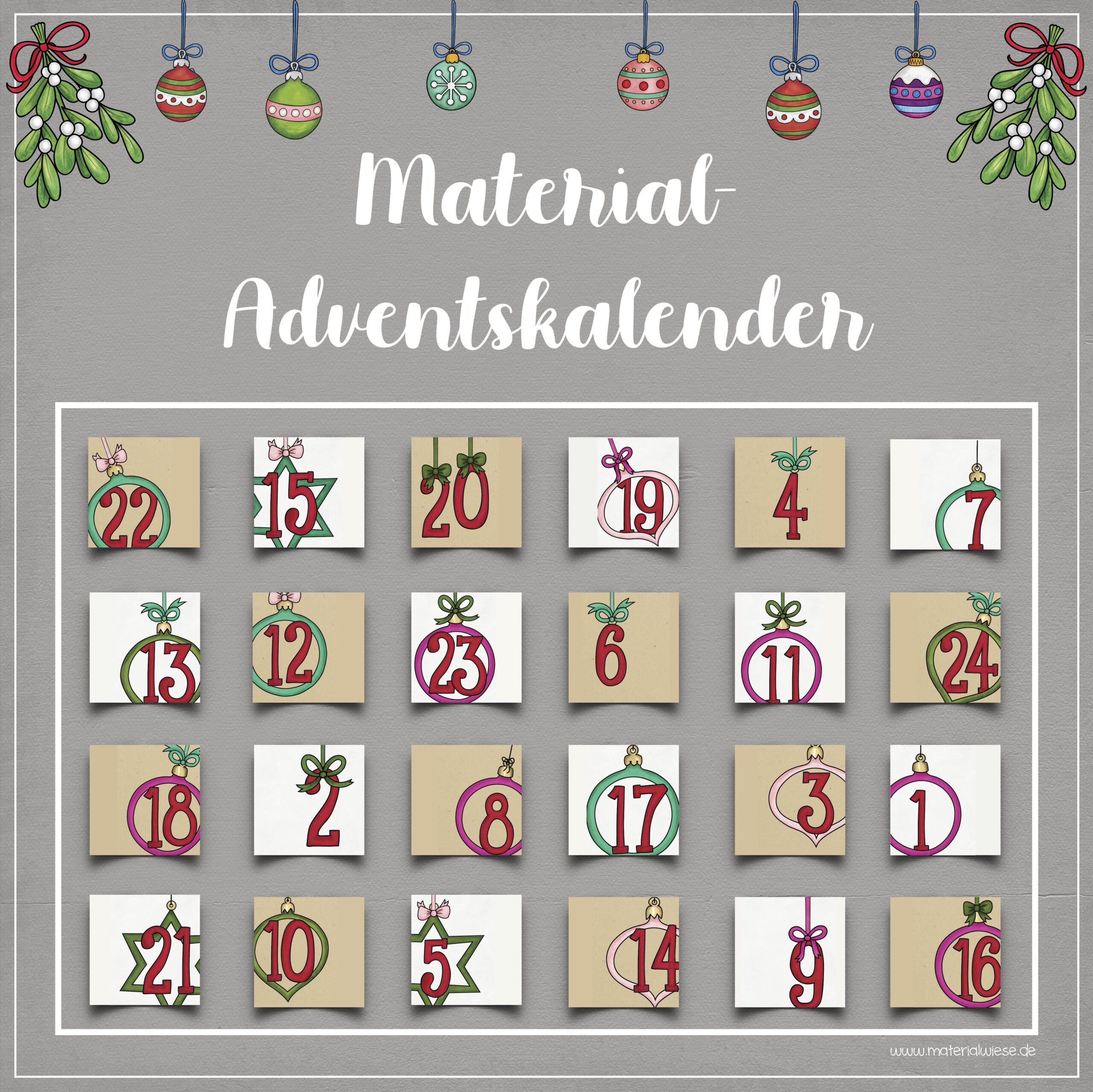 Material-Adventskalender